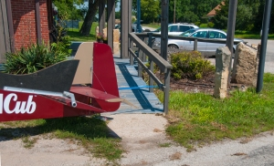 Belite Ultralight Aircraft tied down