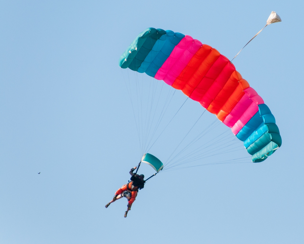 Parachuting into McPherson airport