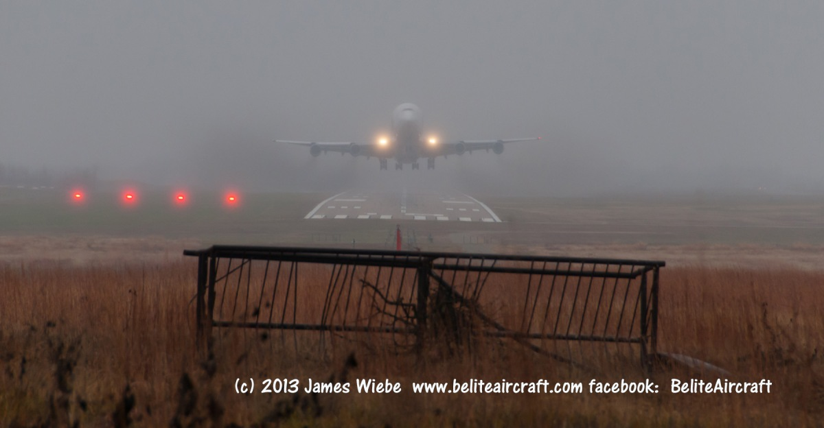 James Wiebe had the best spot in the world to watch the #Dreamlifter #boeing747 takeoff
