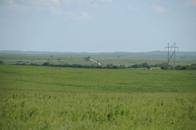 A south view from the Belite Aircraft incident in the flint hills.