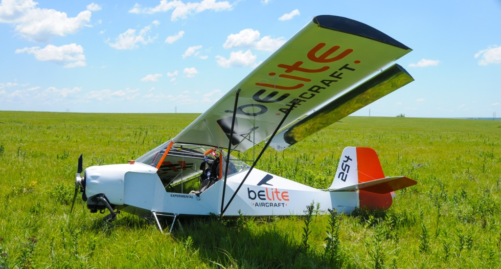A Belite Aircraft, after an incident in the Flint Hills near Olpe, KS.