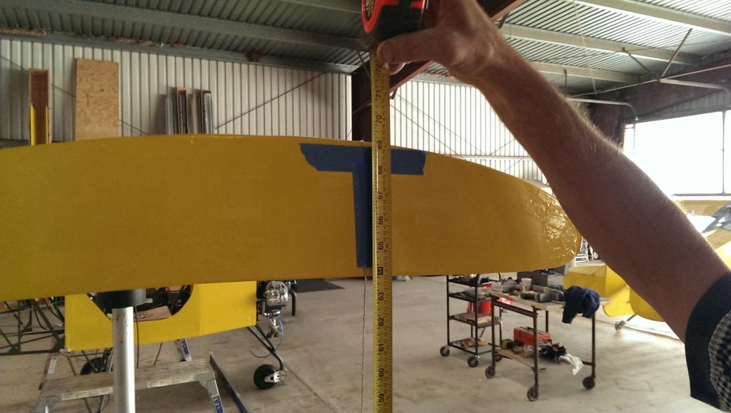 Wing tip measurement