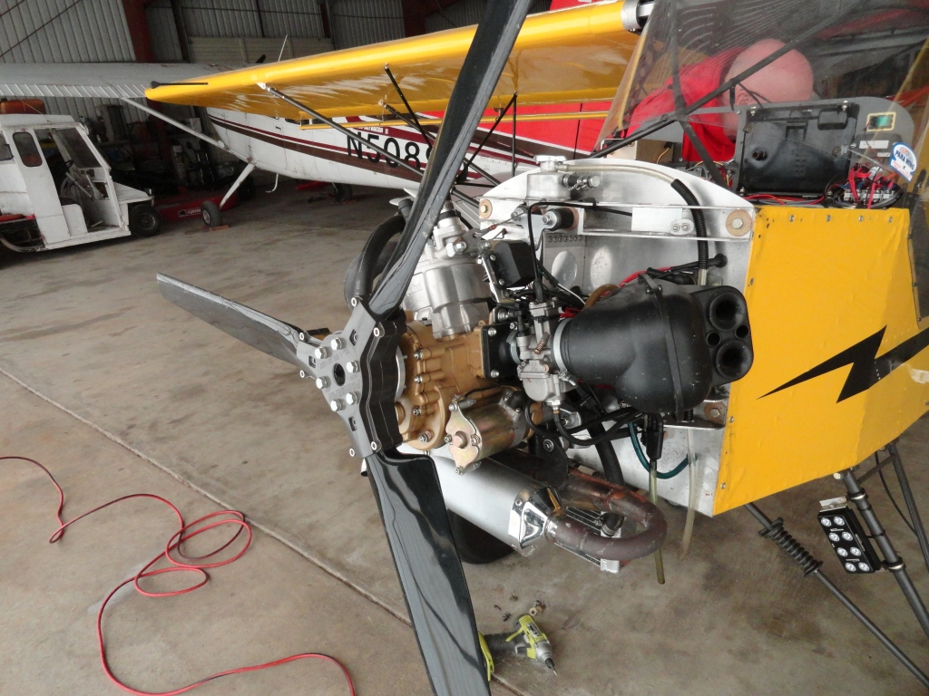 Polini Thor 250 Installation in a Belite ultralight airplane